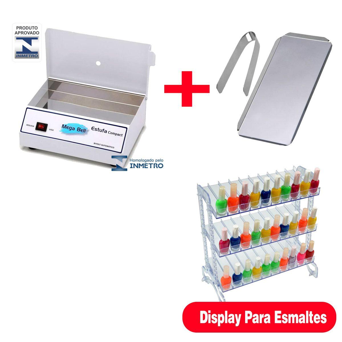 Estufa Manicure + acessorios + display p/ Esmalte