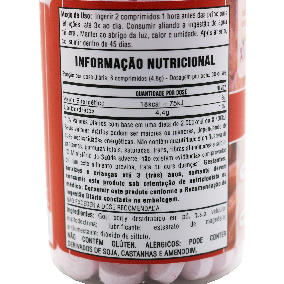 Goji Pro Concentrado 800mg 180 Comprimidos Gojipro