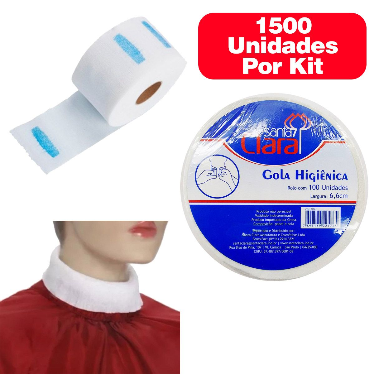 Gola Higienica 15 Rolos C/100 Unidades - 1500 unidades