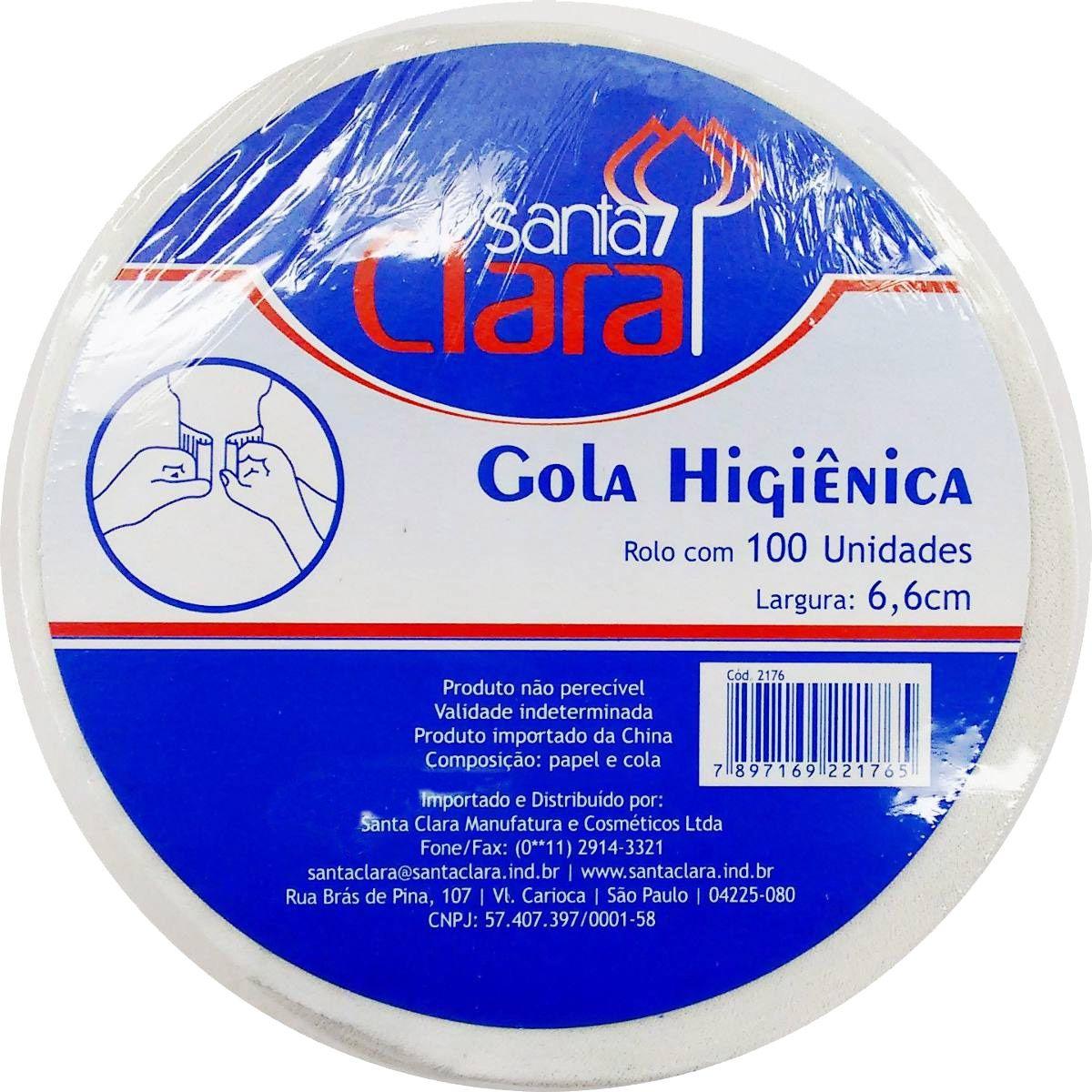 Gola Higienica Rolo com 100 unidades Santa Clara Salão