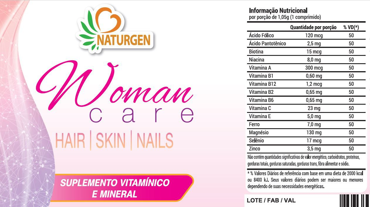 Hair Skin Nails Woman Care Formula da Beleza - 2 meses