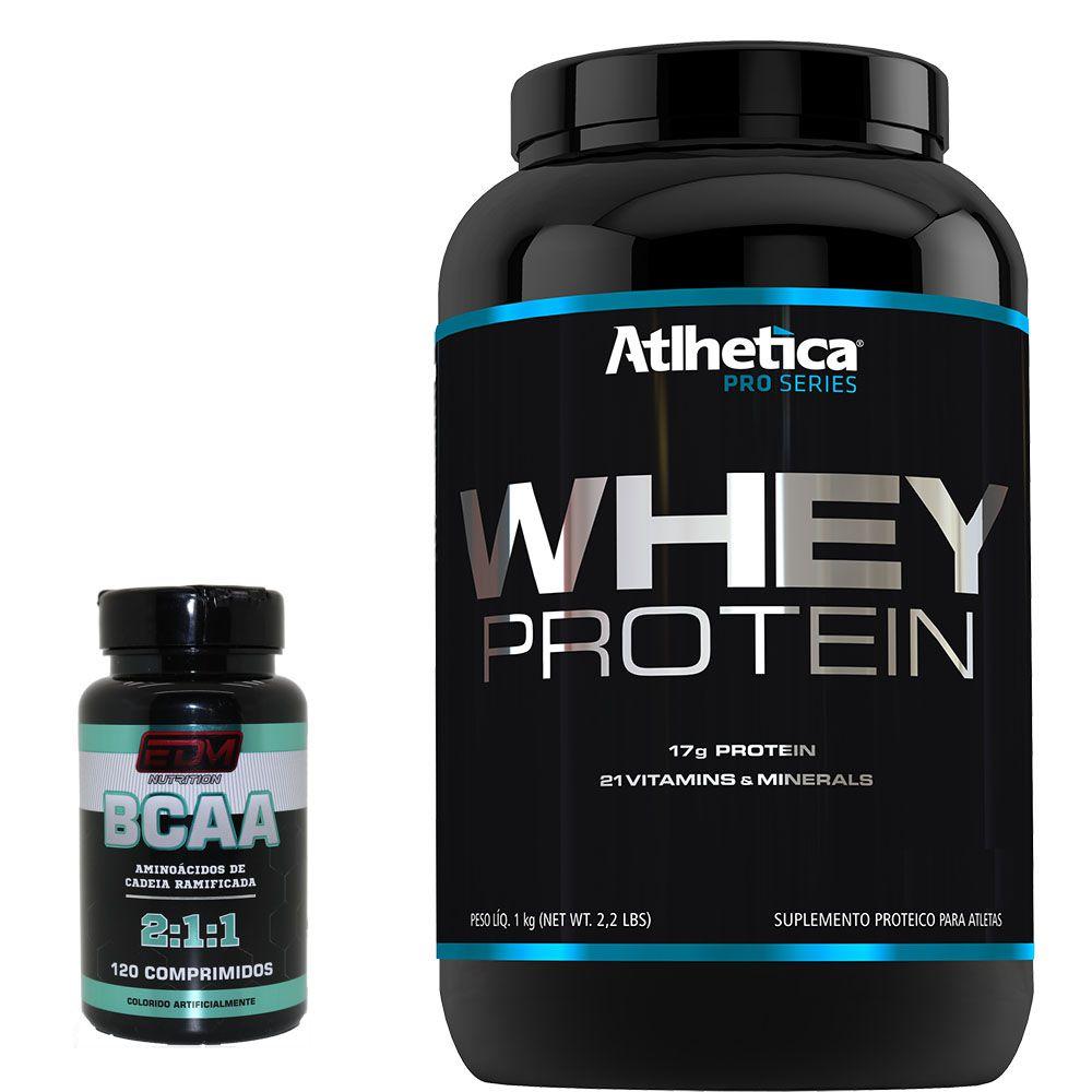 Kit Whey Protein Concentrado + Bcaa 120 B6