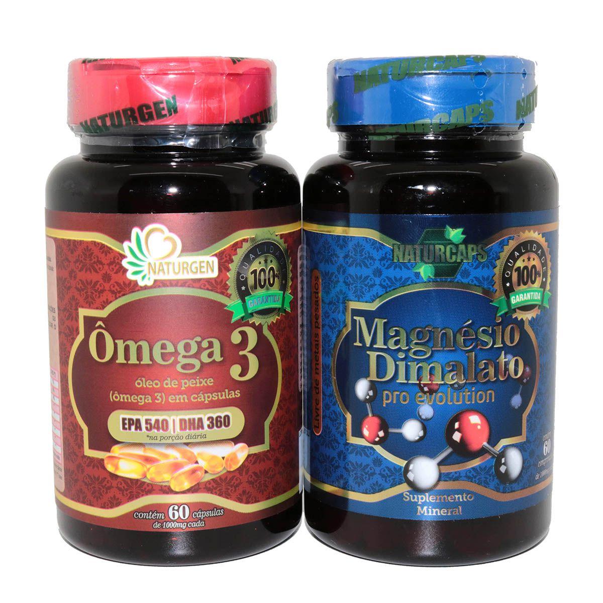 Magnesio Dimalato Pro Evolution 1000mg + Omega 3 Naturcaps