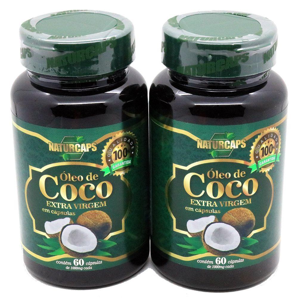 Oleo De Coco 60 Capsulas Naturcaps - 2 Potes