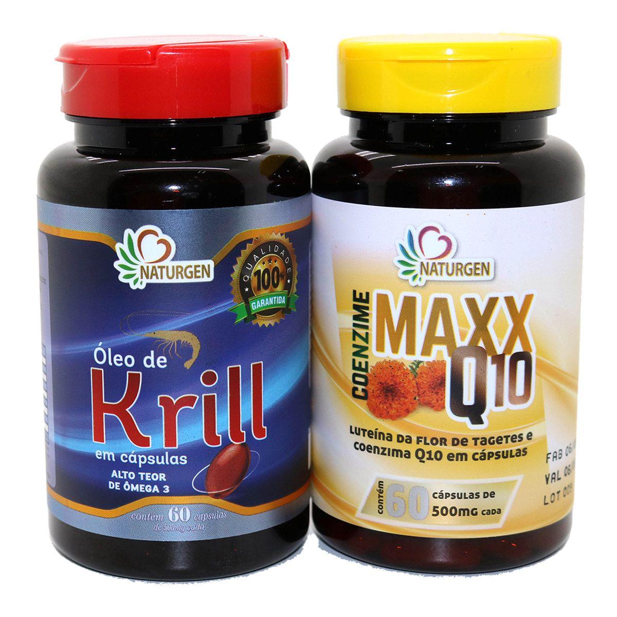 Oleo De Krill + Coenzima Q10 Luteina Zeaxantina 60 capsulas