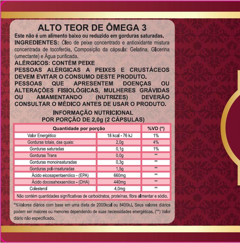 Omega 3 Concentrado 33/22 Antioxidante - Naturcaps-10 Potes