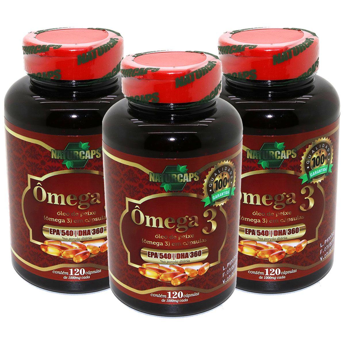 Omega 3 Oleo De Peixe 1000mg - Naturcaps - 360 Capsulas