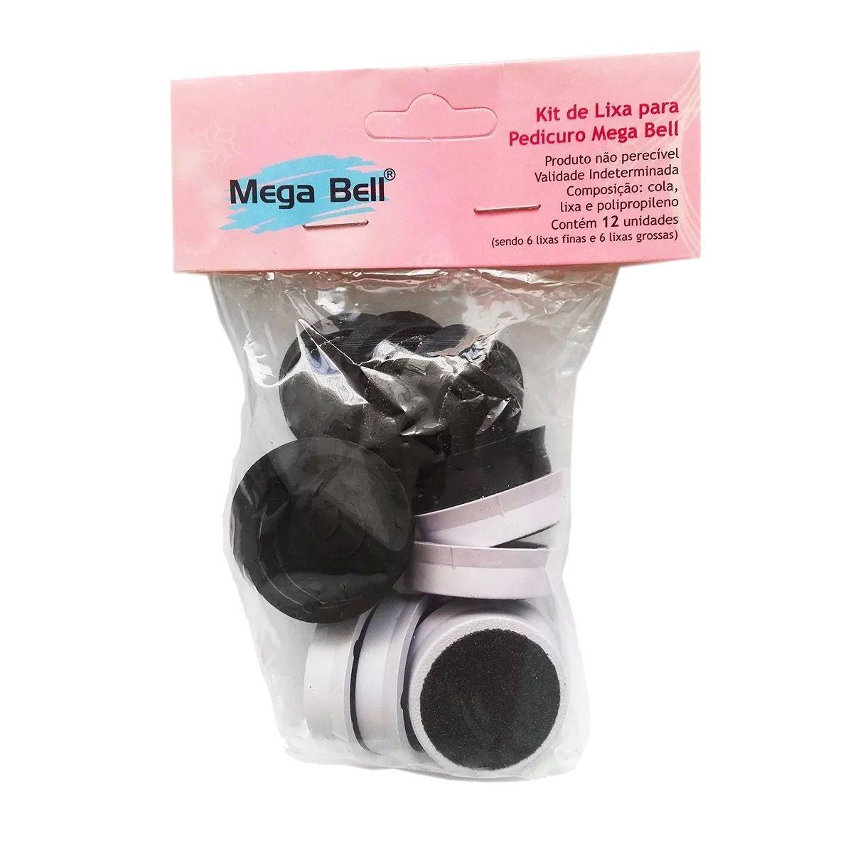 Refil Lixa Pedicuro Megabell - 12 Lixas