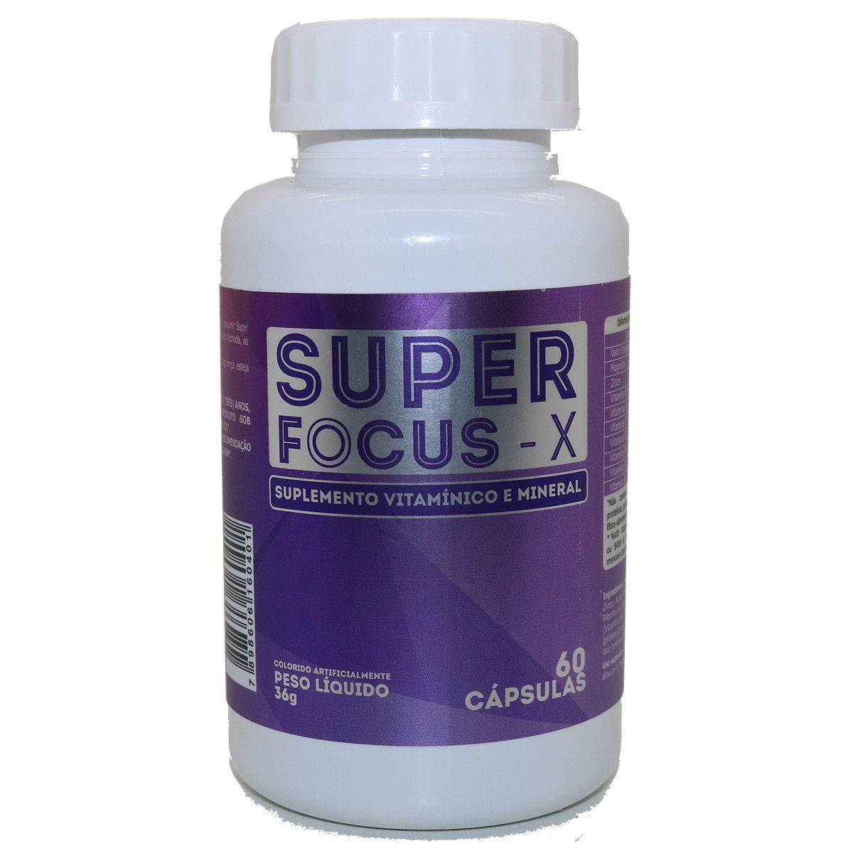 Super Focus X - 60 Cápsulas - Intlab