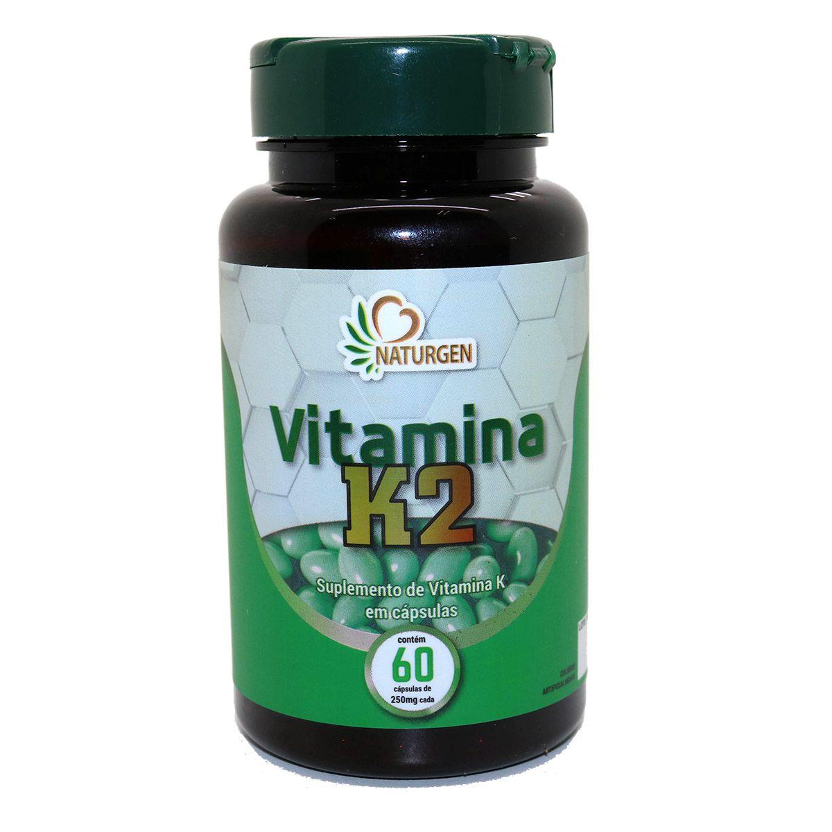 Vitamina K2 Menaquinona MK7 250 MG 60 caps 2 meses