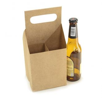 Ref 109 Kraft - Engradado 4 Cervejas Long Neck 355ml - 12x12x26,5 cm - c/ 10 unidades