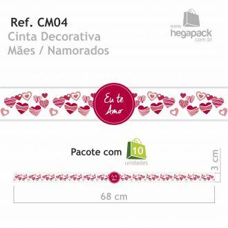 Ref. CM04 - Cinta Envoltório Mães / Namorados - Pacote com 10 unidades