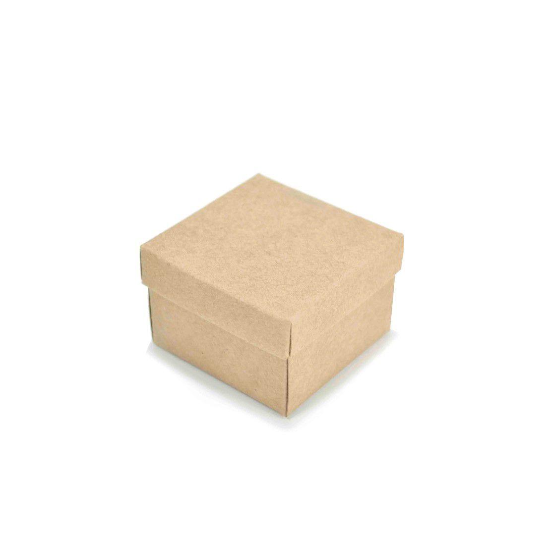 Ref 001 Kraft - Caixa c/ Tampa Papel - 6x6x4 cm - c/ 10 unidades