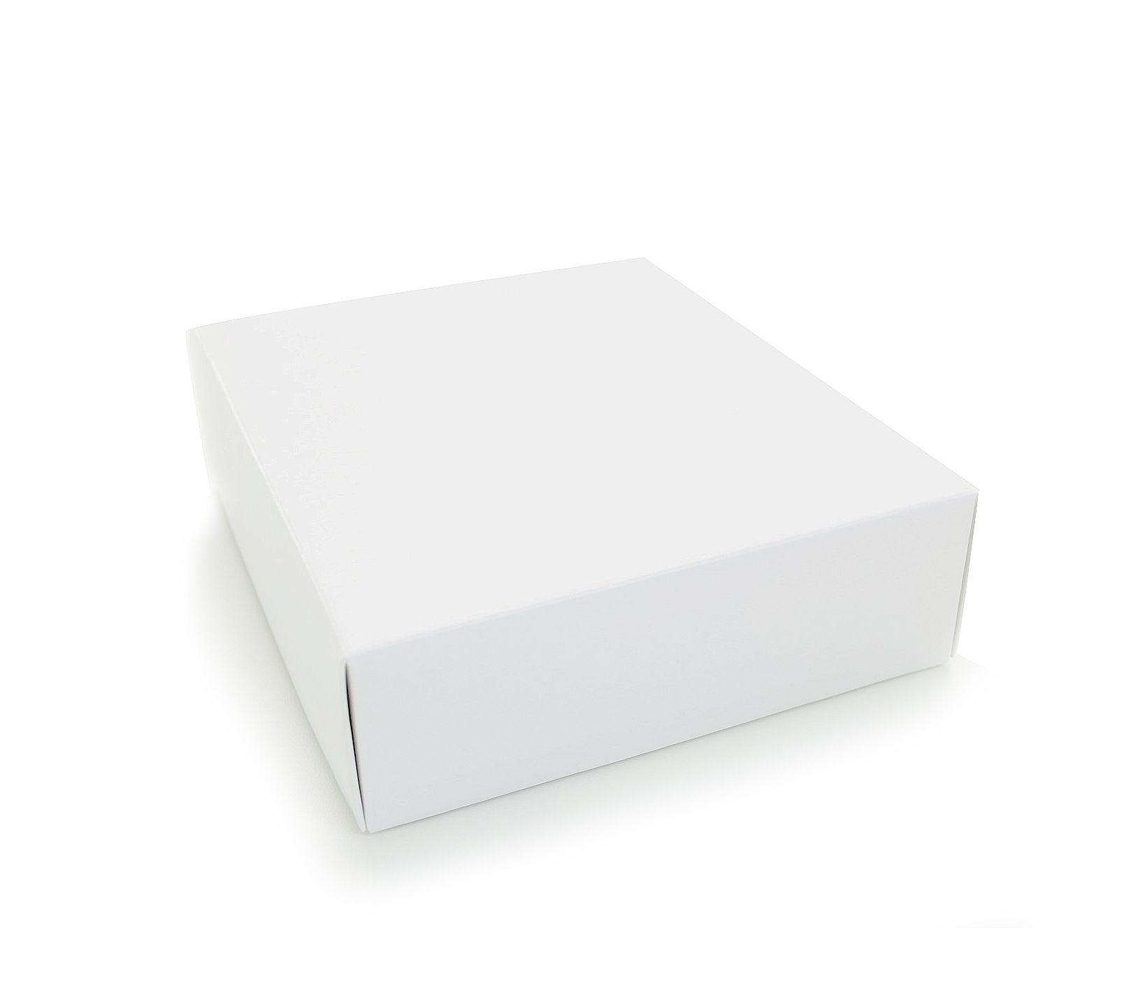 Ref 003 Branca - Caixa c/ tampa papel - 14x14x5 cm - c/ 10 unidades