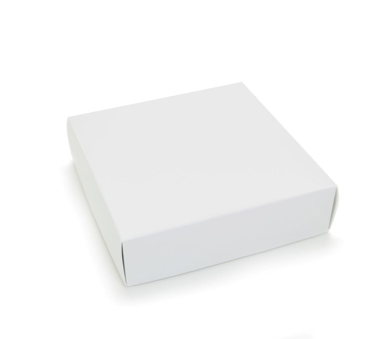 Ref 004 Branca - Caixa c/ tampa papel - 17,5x17,5x5 cm - c/ 10 unidades