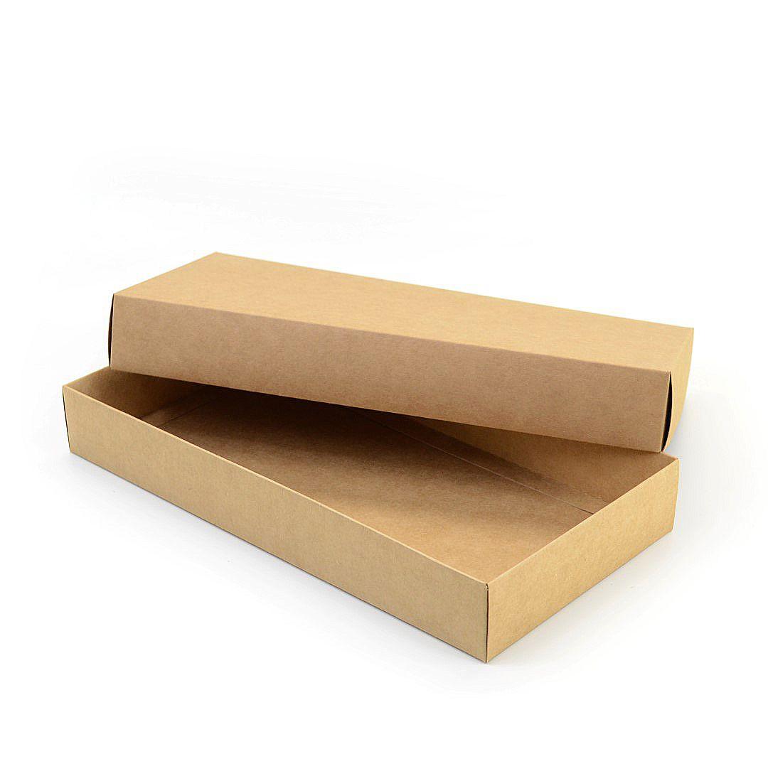 Ref 006 Kraft - Caixa c/ tampa papel - 35x18x5 cm - c/ 10 unidades