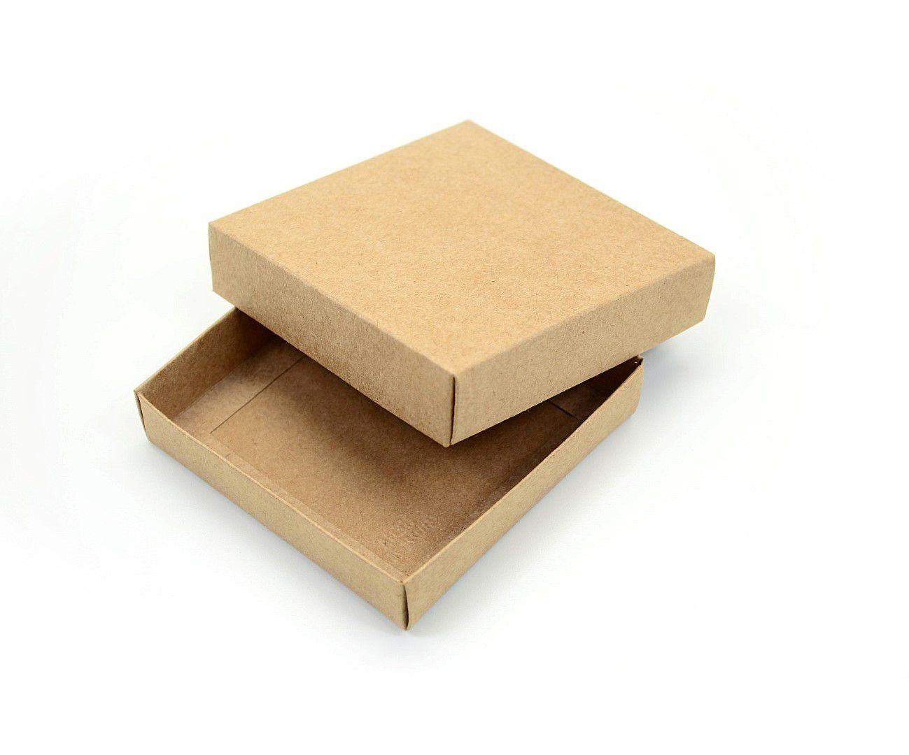 Ref 013 Kraft - Caixa Quadrada - 11x11x2,5 cm - c/ 10 unidades