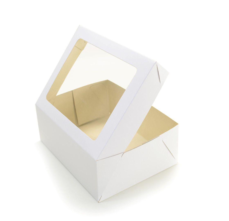 Ref 102 Branca - Caixa c/ visor Transparente - 24x18,5x9 cm - c/ 10 unidades