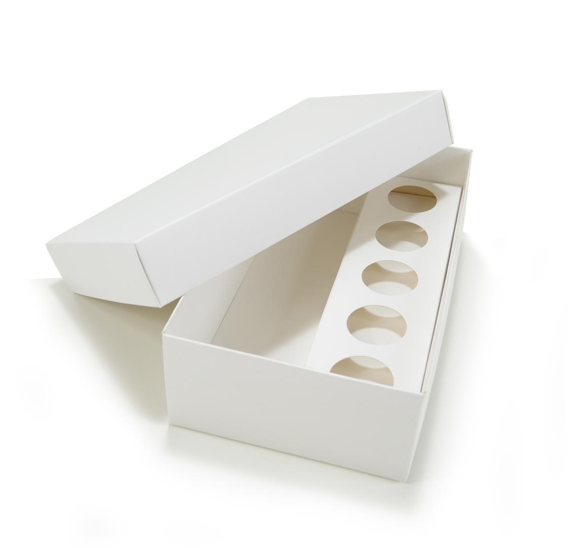 Ref 123 Branca - Caixa p/ Garrafa e Brigadeiros - 21,5x12,5x6,5 cm - c/ 10 unidades