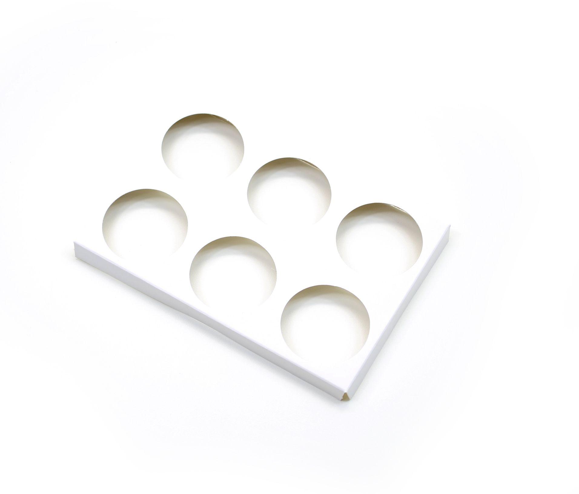 D073 Acessório p/ 6 mini cupcakes - 15,6x10,4x1,3 cm - Branca
