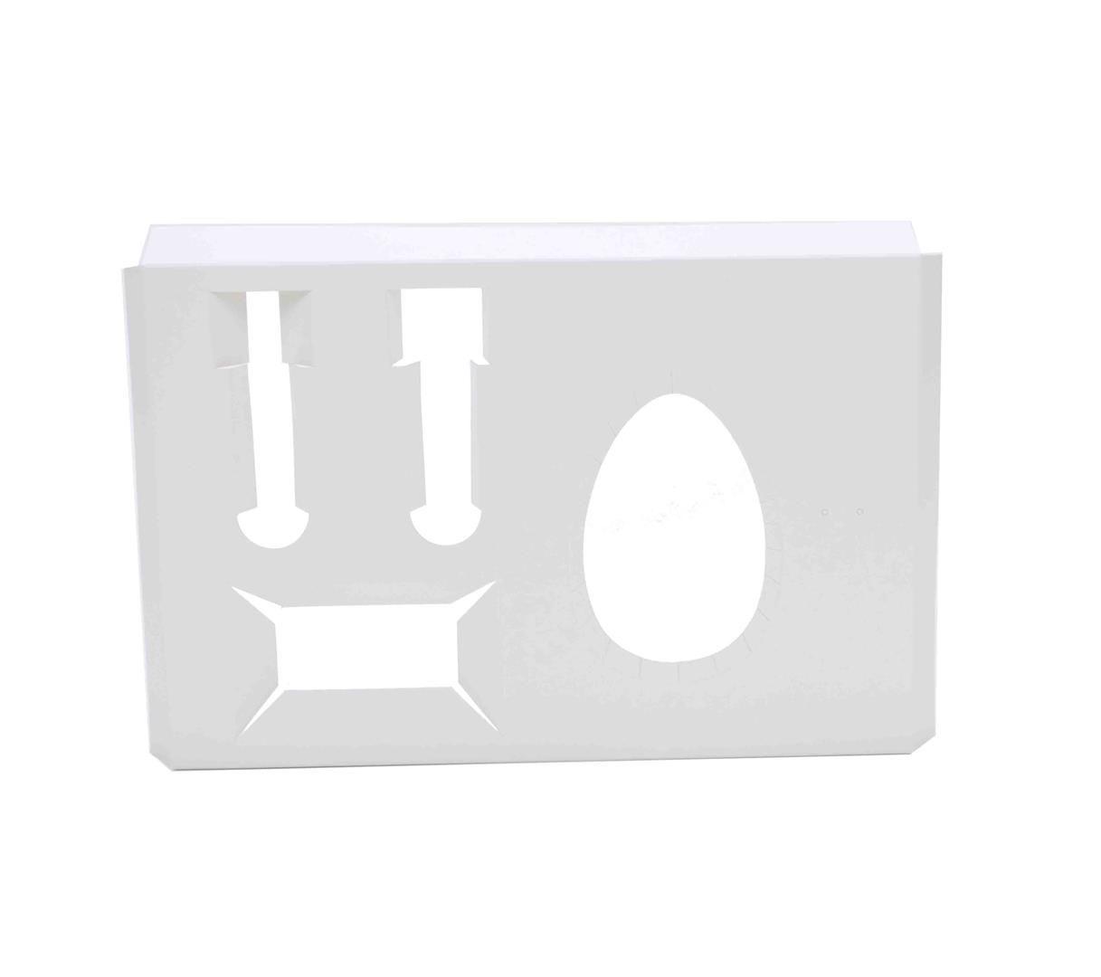 D078 Acessório Mini Confeiteiro Ovo 150 ou 250 gramas - 25x17x1,7 cm