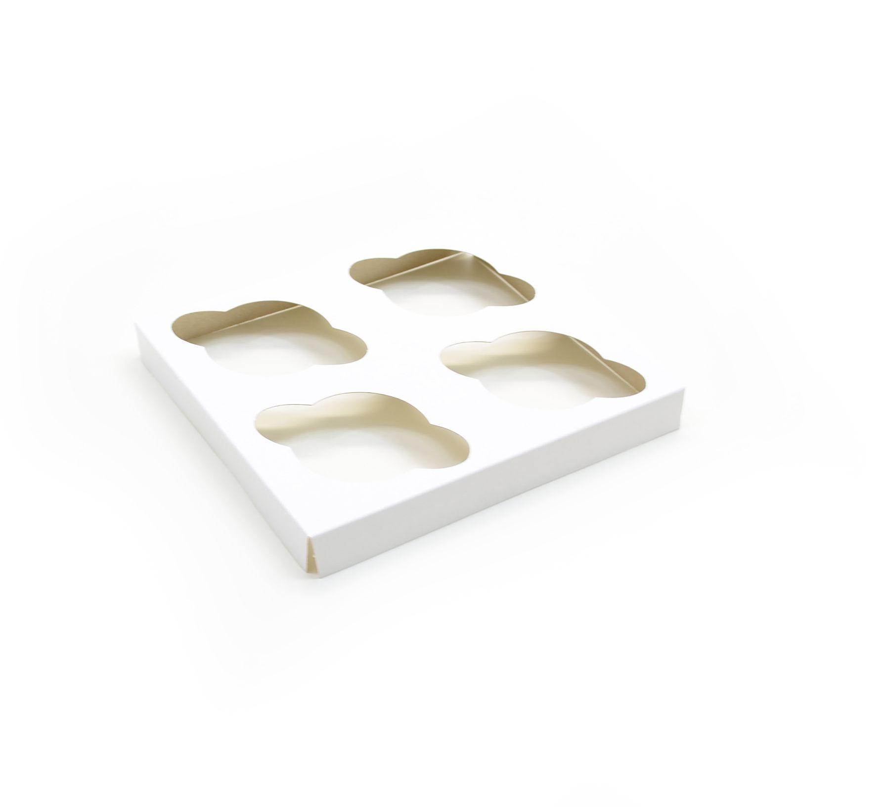 D079 Acessório p/ 4 cupcakes - 18,5x16,5x2cm - Branca