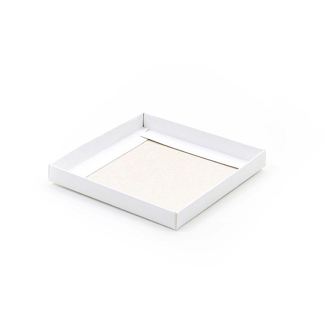 F068 - Fundo - 10,8x10,8x1,3 cm -  Branca