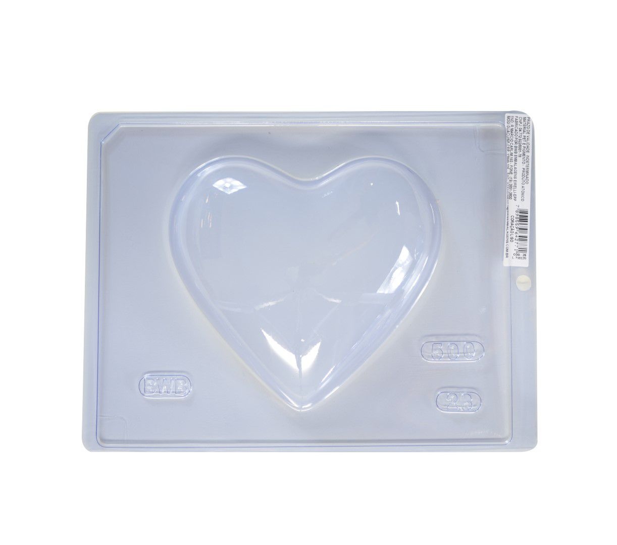 Forma Simples Coração LISO 500 gr. - BWB 28