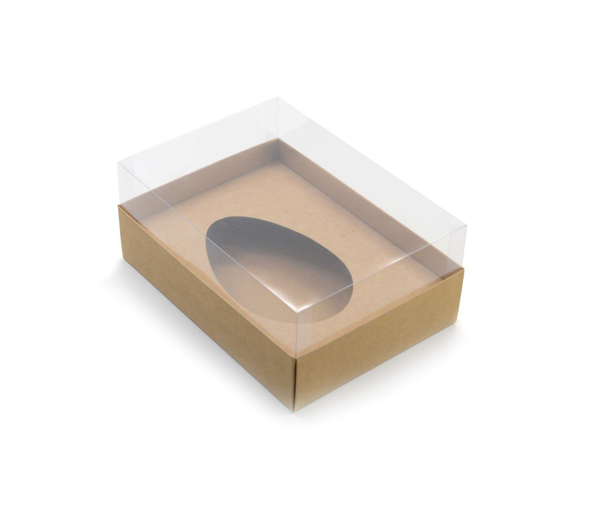 Ref 016 Kraft - Caixa Ovo de Colher 500/750gr. c/ tampa ALTA - 25x18x11 cm - c/ 10 unidades