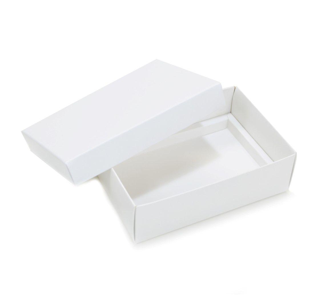 Ref 019 Branca - Caixa p/ 6 Brigadeiro Gourmet Pelotines - c/ tampa papel - 13x9x4 cm - c/ 10 unidades