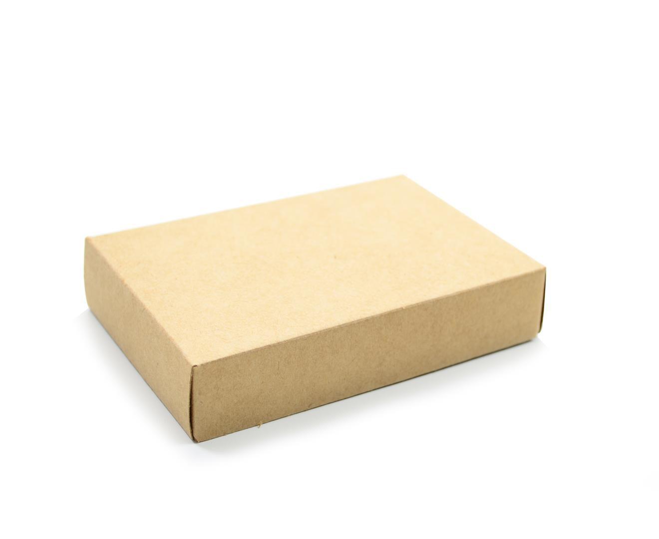 Ref 022 Kraft - Caixa c/ tampa papel - 14x9x3 cm - c/ 10 unidades