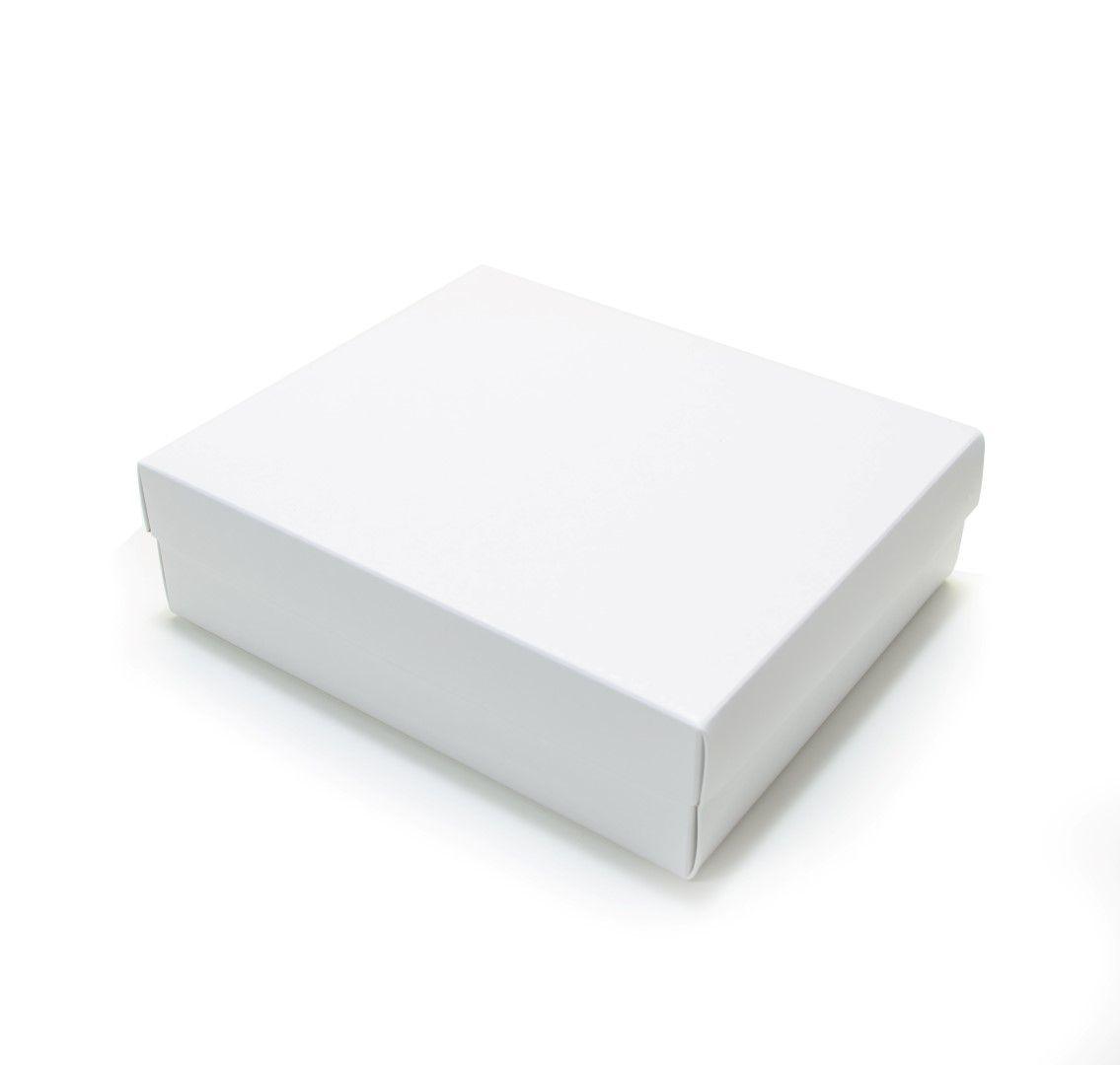Ref 025 Branca - Caixa - 21,5x18,5x6,5 cm - c/ 10 unidades