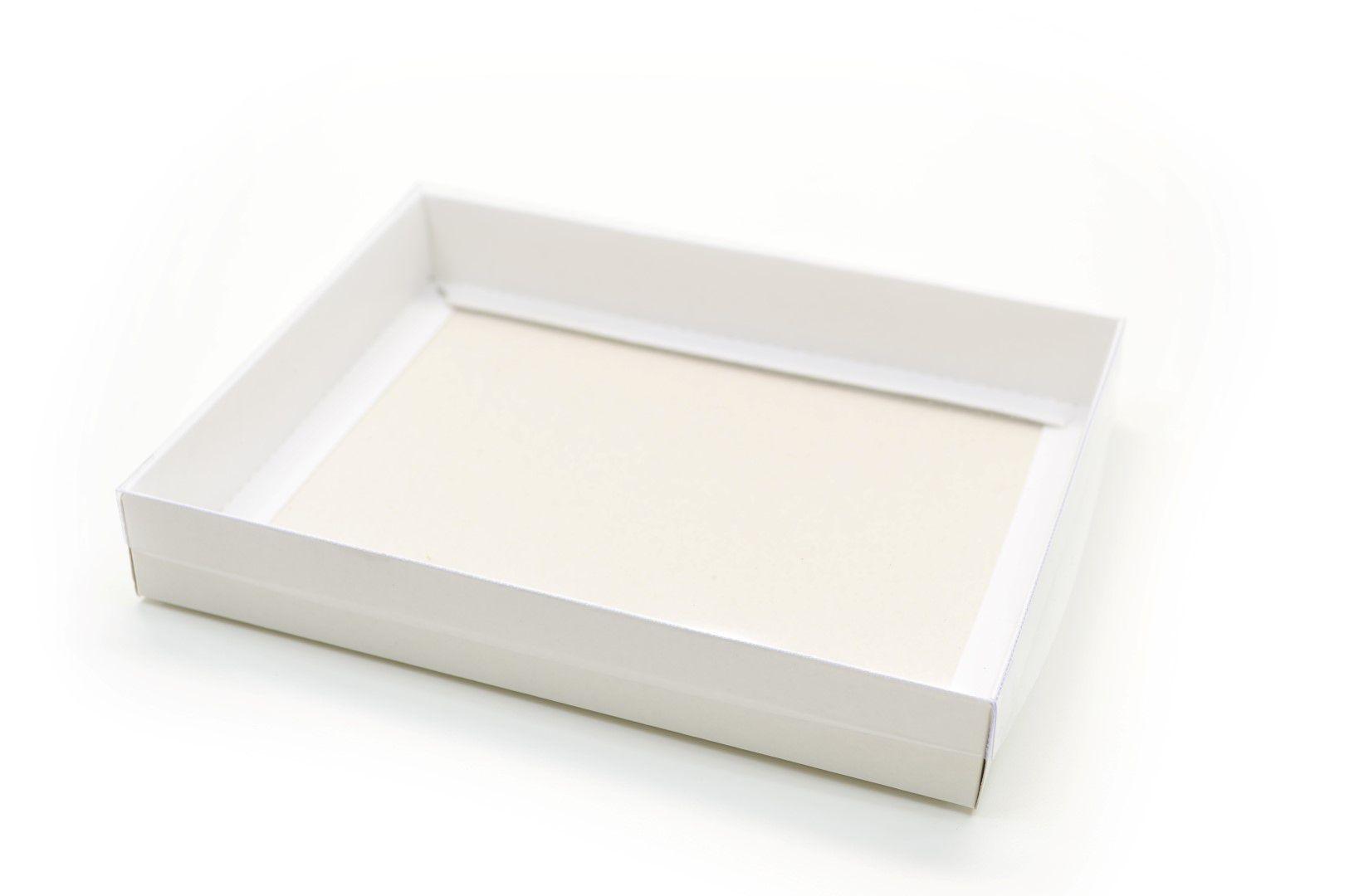 Ref 036 Branca - Caixa c/ tampa transparente - 20x16x3 cm - c/ 10 unidades
