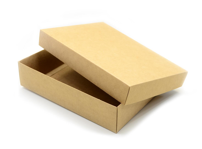 Ref 038 Kraft - Caixa c/ tampa papel - 35x25x8 cm - c/ 10 unidades
