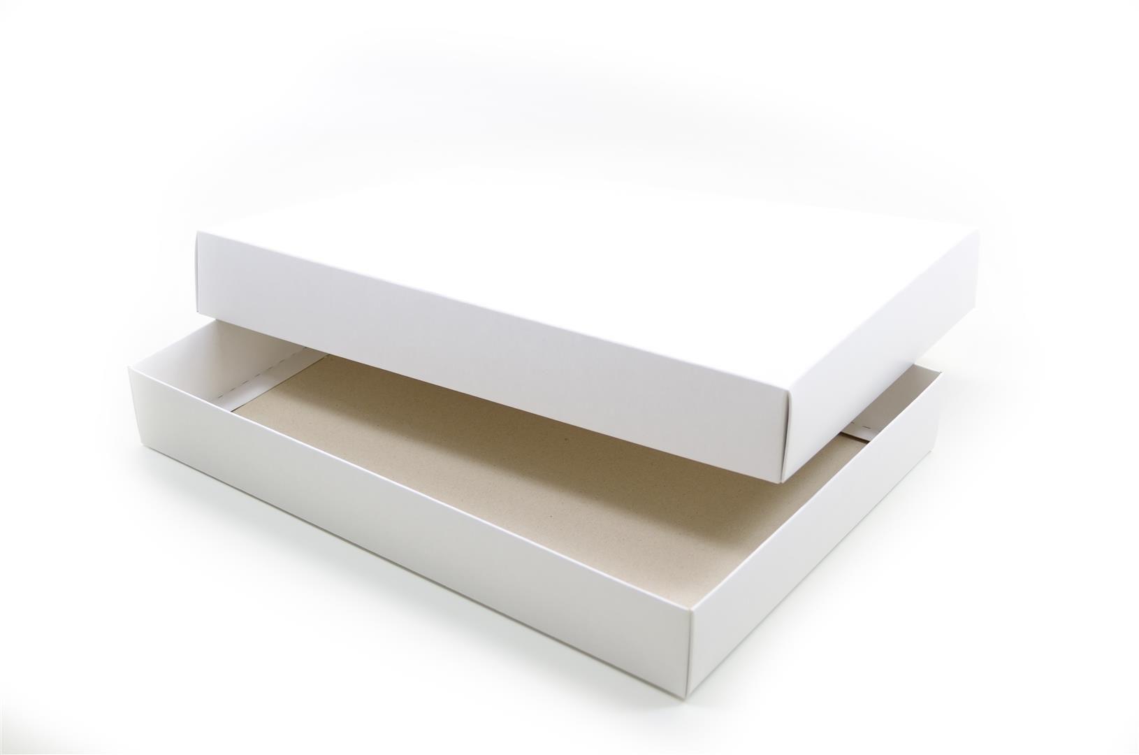 Ref 039 Branca - Caixa c/ tampa papel - 36x25,5x5 cm - c/ 10 unidades