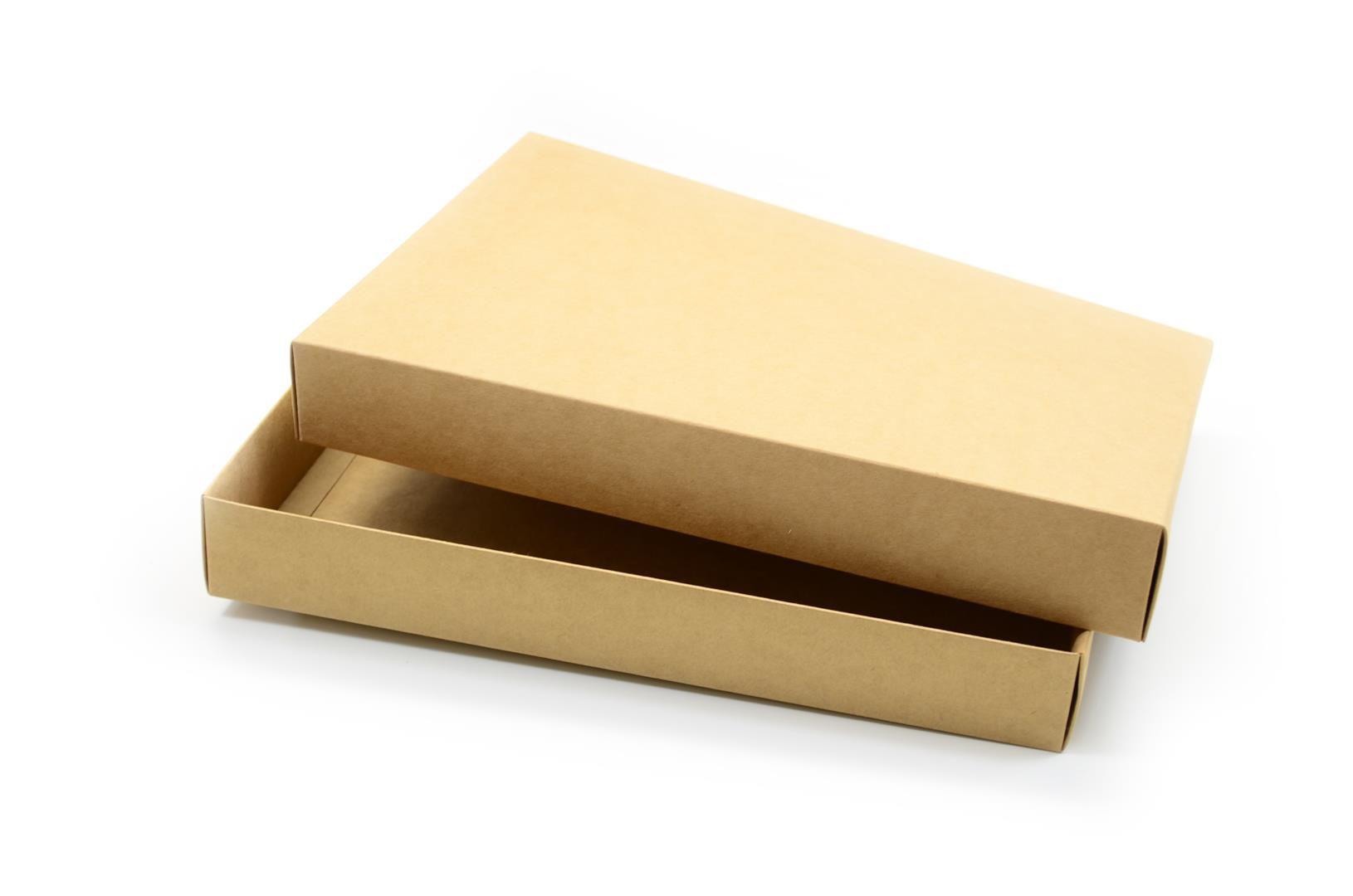 Ref 039 Kraft - Caixa c/ tampa papel - 36x25,5x5 cm - c/ 10 unidades