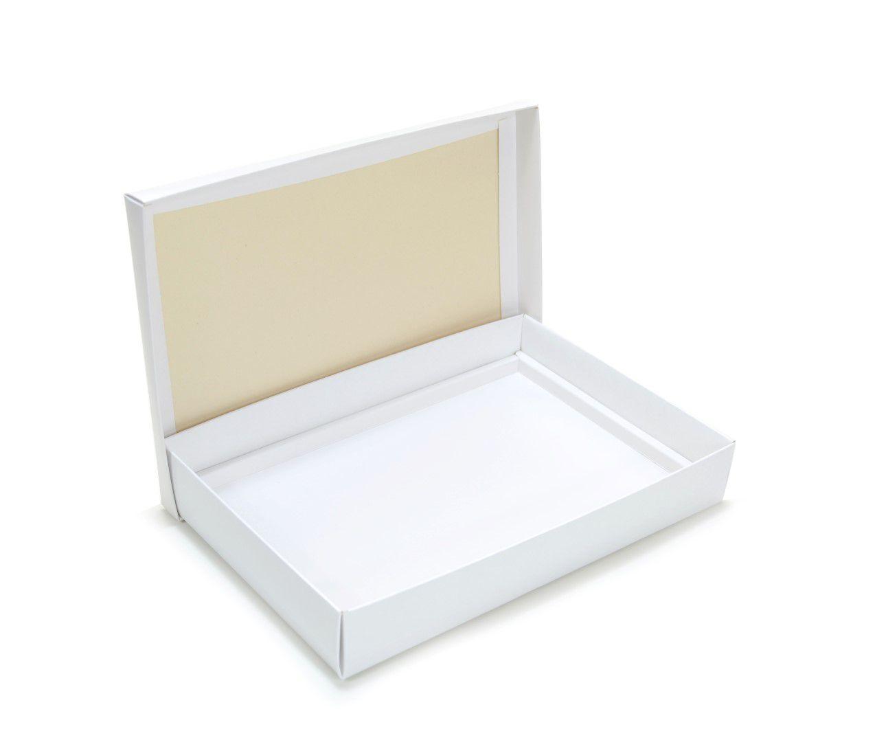 Ref 049 Branca - Caixa p/ 24 Brigadeiro Gourmet Pelotines - c/ tampa papel - 25x17x4 cm - c/ 10 unidades