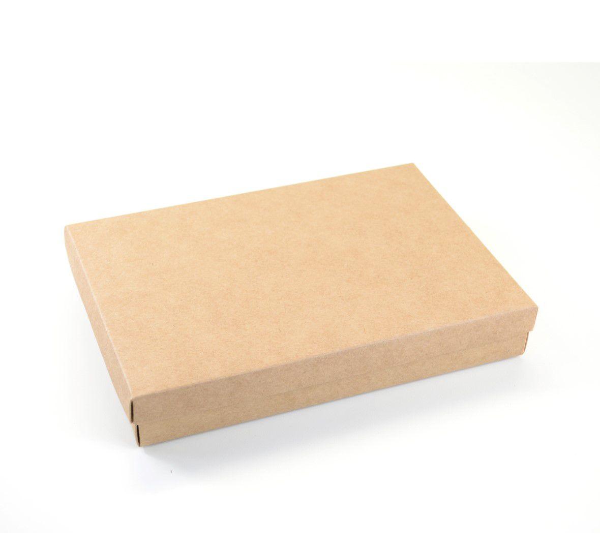 Ref 049 Kraft - Caixa c/ tampa papel - 25x17x4 cm - c/ 10 unidades