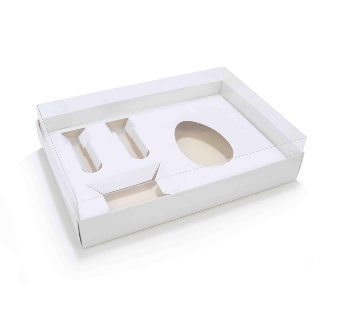 Ref 078 Branca - Caixa Kit Mini Confeiteiro Ovo 150 ou 250 gramas - 25x17x5,2 cm - c/ 10 unidades