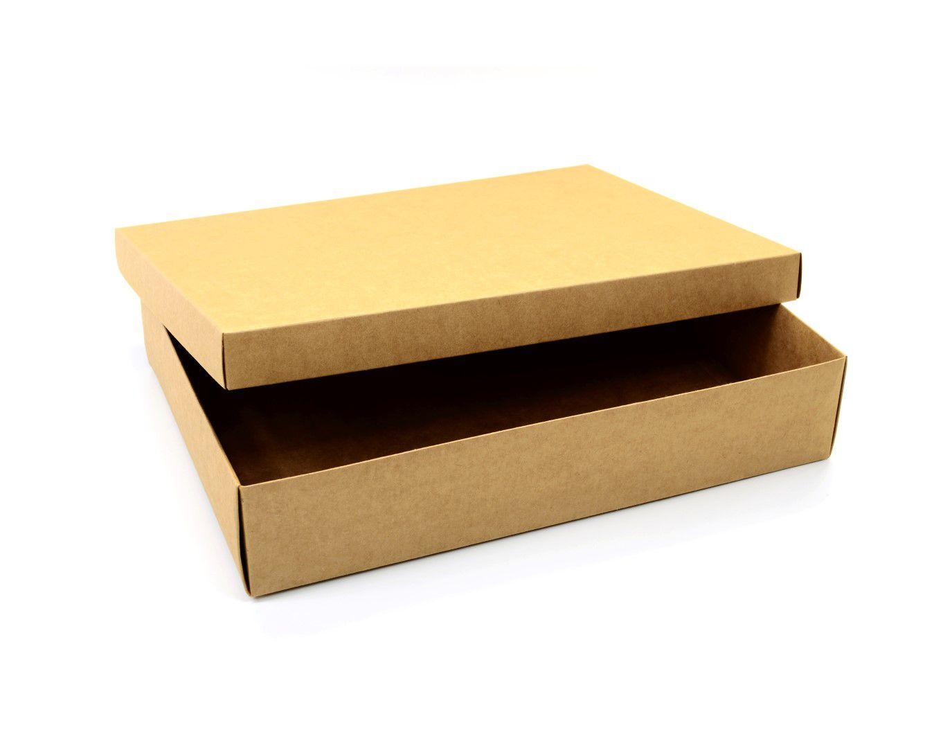 Ref 089 Kraft - Caixa c/ tampa papel - 40x29x8 cm - c/ 5 unidades