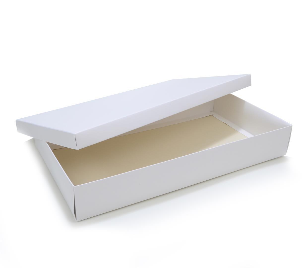 Ref 132 Branca Alta - Caixa c/ tampa papel - 43x23x6,5 cm - c/ 10 unidades