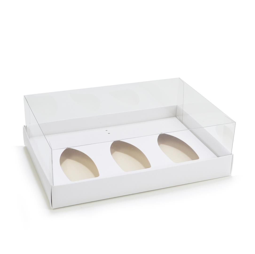 Ref 145 Caixa Branca p/ Barca de Chocolate PEQUENA - bwb 9542 - 22x15x7 cm - c/ 10 unidades