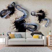 Adesivo de Parede 3D Polvo Aspecto  Painel Fotográfico F190