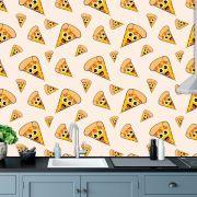 Papel de Parede Pizzaria Emoji Pizza Adesivo P765