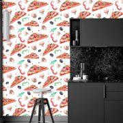 Papel de Parede Pizza Food Temperos Adesivo P595