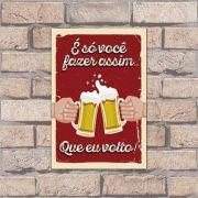 Poster Decorativo Frase Beer PL088