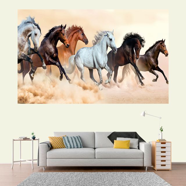 Adesivo de Parede 3D Cavalo Painel Fotográfico F001