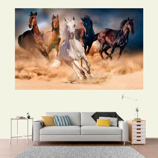 Adesivo de Parede 3D Cavalo Painel Fotográfico F002