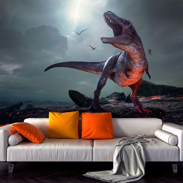 Adesivo de Parede 3D Dinossauro Painel Fotográfico F207