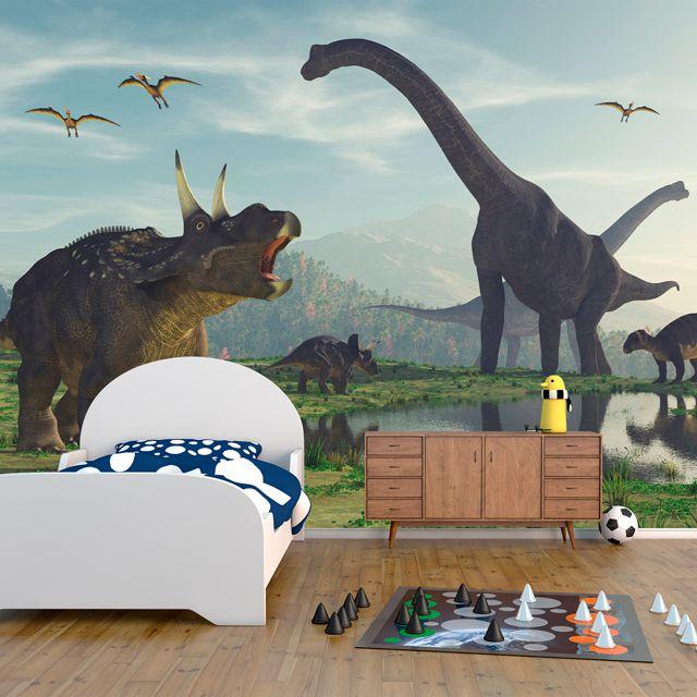Adesivo de Parede 3D Dinossauro Painel Fotográfico F208